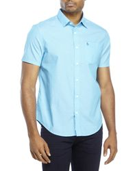 Original Penguin | Blue Classic Fit Short Sleeve Shirt for Men | Lyst