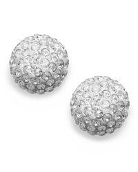 Swarovski | Metallic 22k Gold-plated Crystal Stud Earrings | Lyst