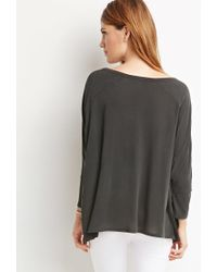 Forever 21 | Black Boxy Dolman Top | Lyst