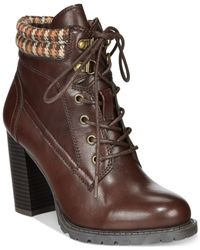 Mojo Moxy | Brown Dolce By Outfitter Lace-up Booties | Lyst