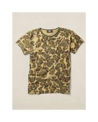 RRL - Green Camo-print Cotton T-shirt for Men - Lyst