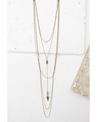 Forever 21 | Metallic Layered Charm Choker | Lyst