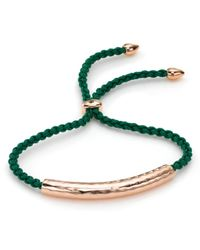 Monica Vinader | Green Esencia Friendship Bracelet | Lyst