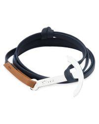 Miansai - Blue Modern Anchor Two-tone Wrap Bracelet - Lyst