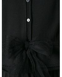 RED Valentino - Black Bow Cardigan - Lyst
