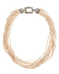 Brooks Brothers | Natural Torsade Necklace | Lyst