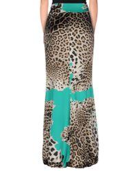 Roberto Cavalli Green Long Skirt