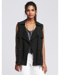 Banana Republic | Black Drapey Vest | Lyst