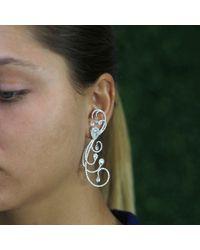 Inbar - White Festival Diamond Earrings - Lyst