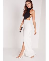 Missguided White Backless Maxi Dress Monochrome