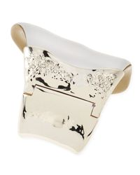 Alexis Bittar - Metallic Extra Large Lucite Wave Bangle Silver - Lyst