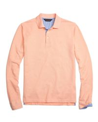 Brooks Brothers | Orange Slim Fit Long-sleeve Oxford Collar Polo Shirt for Men | Lyst