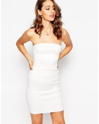 Sistaglam - White Kim Bandeau Bodycon Dress - Lyst