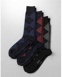Polo Ralph Lauren | Blue Two Pack Of Cotton-Blend Socks for Men | Lyst
