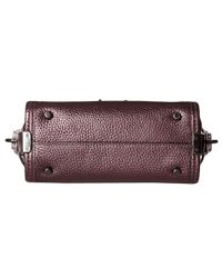 COACH - Purple Metallic Pebble Light Swagger 20 Carryall - Lyst