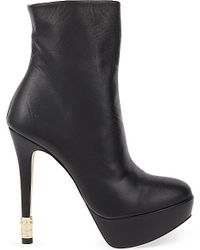 Kurt Geiger Black Phoenix Leather Ankle Boots
