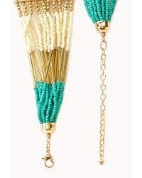 Forever 21 - Blue Eclectic Beaded Necklace - Lyst