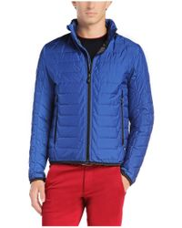BOSS Green - Blue 'jelger' | Quilted Jacket With Zip Out Hood for Men - Lyst