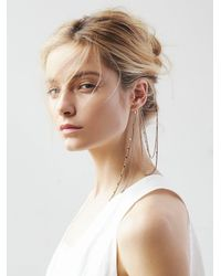 Free People | Blue Womens Draped Ear Cuff To Hair Chain | Lyst