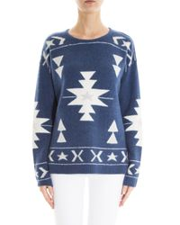 Banjo & Matilda - Blue Patterned Cashmere Sweater - Lyst