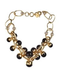 Valentina Brugnatelli | Black Nicole Resin & Swarovski Necklace | Lyst