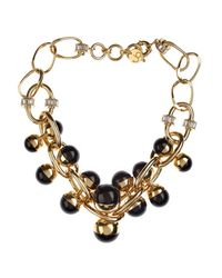 Valentina Brugnatelli - Black Nicole Resin & Swarovski Necklace - Lyst