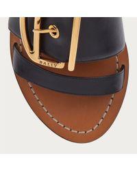 Bally Dalvina Women ́s Leather Sandal In Black