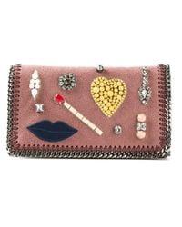 Stella McCartney | Pink Embellished Falabella Shoulder Bag | Lyst
