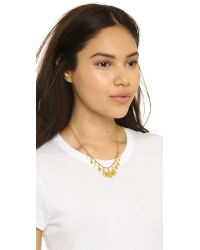 Chan Luu - Metallic Multi Teardrop Necklace - Butterscotch - Lyst