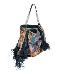 Just Cavalli - Blue Handbag - Lyst