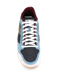 AMI Blue Running Sneakers for men