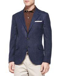 Brunello Cucinelli - Brown Fine Pique Polo Shirt for Men - Lyst