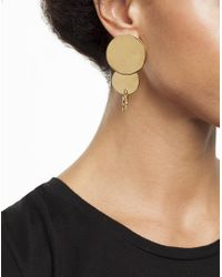 Arme De L'Amour | Metallic Double Circle Plate Earrings | Lyst