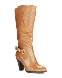 Guess | Brown Mallay Leather Boots | Lyst