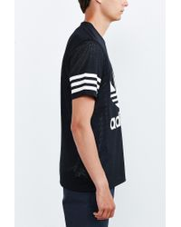 Adidas Originals | Black Originals Galaxy Trefoil Tee for Men | Lyst