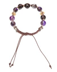 Stones Of Character - Purple Woven Macramé Bracelet for Men - Lyst