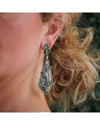 Arunashi Blue Topaz Earrings