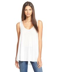 Stem | White Strappy Tank | Lyst