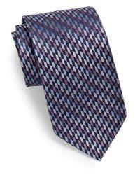 Burma Bibas | Blue Vertical Geometric-print Silk Tie for Men | Lyst