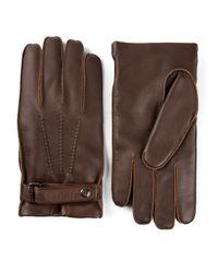 Giorgio Armani Brown Buckled Gloves for men