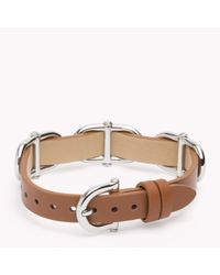 Tommy Hilfiger | Brown Leather Bracelet | Lyst