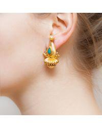 Kastur Jewels - Yellow Heritage Dome Earrings - Lyst