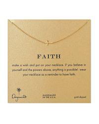 Dogeared | Metallic Faith Sideways Cross Necklace | Lyst