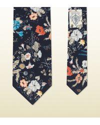 Gucci | Multicolor Flora Knight Print Habutai Silk Tie for Men | Lyst