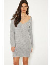 Forever 21   Gray Mlm V-cut Back Sweater Dress   Lyst
