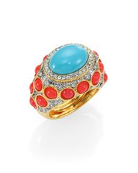Kenneth Jay Lane | Blue Cabochon Ring | Lyst