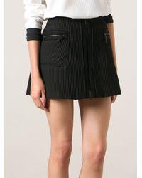 KENZO Black Waffle Knit Skirt