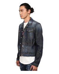 DSquared² - Blue Phoenix Denim Jacket for Men - Lyst