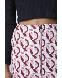 TOPSHOP Pink Metro Zip Pelmet Skirt