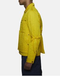 Björn Borg Yellow Quilted Workwear Jacket for men